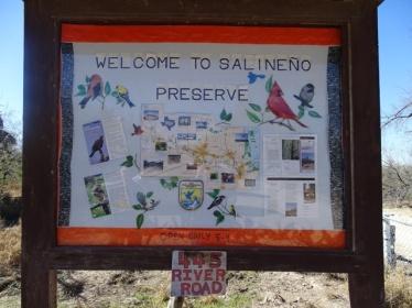 Sign at Salineno